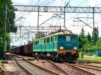 ET41-179 -- ET41-179 z transportem węgla, wjeżdża na stację w Wyszkowie i po krótkim postoju ruszy w stronę Ostrołęki.