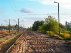 Rozbiórka torów stacyjnych Wyszków -- Niezelektryfikowane tory boczne nr 8 i 10 kilka dni po rozbiórce.