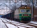182 121-4 -- Czechosłowacka lokomotywa 182 przewoźnika CTL Logistics rusza z próżnym składem w kierunku Tłuszcza.