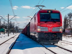 X4EC-021 -- Siemens Vectron z towarowym Jaszczów - Ostrołęka oczekuje na odjazd z Wyszkowa.