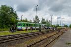 VT628-003/013 -- Pociąg specjalny z okazji Festynu Dworcowego 2014 w Ostrołęce rel. Ostrołęka - Śniadowo - Ostrołęka. Pociąg umożliwił przejazd po linii kolejowej nr 36 Ostrołęka - Łapy, na której ruch pasażerski zawieszono w 2000r.