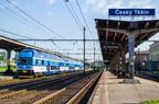 """471 080-2 -- Piętrowa jednostka """"City Elefant"""" Kolei Czeskich jako pociąg osobowy do Mostów koło Jabłonkowa oczekuje na odjazd z Czeskiego Cieszyna."""