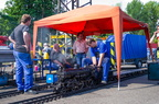 Przejażdżki miniaturowymi pociągami -- Na targach Czech Raildays 2014 można było przejechać się także na wagonie miniaturowego pociągu.