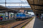 362 040-8 -- Pociąg regionalny Kolei Czeskich do Bohumina wjeżdża na stację Ostrava hl. n.