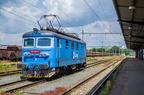 122 028-4 -- Lokomotywa towarowa Kolei Czeskich oczekuje na odjazd ze stacji Ostrava hl. n.