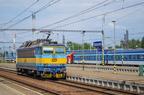 362 163-8 -- Lokomotywa 362 po odłączeniu się od składu manewruje po stacji w Bohuminie.
