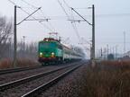 """EU07-148 -- EU07-148 z pociągiem TLK """"Hańcza"""" Kraków Główny - Suwałki - Šeštokai PKP Intercity opuszcza stację Tłuszcz."""