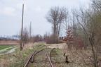Rozjazdy do Bacutilu w Wyszkowie -- Tory do bocznicy przetwórni pasz zostały zdjęte. Zostały tylko rozjazdy. Niedługo później zbudowano prowizoryczny jeden tor na teren zakładu.