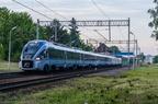 ED161-009 -- Dart z pociągiem IC Ondraszek Białystok - Bielsko Biała zatrzymuje się na przystanku Katowice Piotrowice.