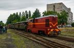 Lxd2-364 -- Pociąg turystyczny z okazji Industriady 2016 rel. Tarnowskie Góry - Bytom odjeżdża ze stacji Bytom Karb Wąskotorowy. Na końcu składu lok. Lxd2-374.