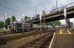 TEM2-232 -- Towarowy przewoźnika CTL Logistics rusza po krótkim postoju ze stacji Tarnowskie Góry.
