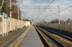 Przystanek Jasienica Mazowiecka -- Przystanek Jasienica Mazowiecka na linii kolejowej nr 6 Zielonka - Kuźnica Białostocka. W oddali wjazd na stację Tłuszcz.