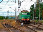 ET41-113 -- Próżny pociąg towarowy z Ostrołęki oczekuje na odjazd z Wyszkowa.