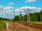 Mostówka -- Stacja w Mostówce przed remontem. Wyjazd w kierunku Wyszkowa.