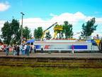 Wystawa DTK2010 -- Lokomotywa Husarz PKP Intercity oraz sprzęt kolejowy na Dniach Techniki Kolejowej 2010.