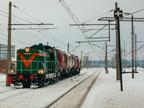 SM42-2147 -- Pociąg zdawczy z Ostrołęki zatrzymał się na stacji Wyszków.