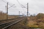 D29-6 km. 152,5 -- Szlak kolejowy linii Zielonka - Kuźnica Białostocka przed stacją Łapy. Widok w kierunku Warszawy.