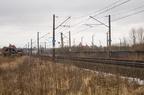 D29-6 km. 152,5 -- Szlak kolejowy linii Zielonka - Kuźnica Białostocka przed stacją Łapy. Widok w kierunku Białegostoku.