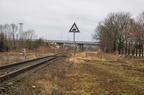 Wyjazd ze st. Łapy do Ostrołęki -- Wyjazd ze st. Łapy w kierunku Ostrołęki. Ostatni kilometr linii kolejowej nr 36 Ostrołęka - Łapy, na której zawieszono ruch pasażerski w 2000 roku.
