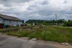 Sokoły przejazd kolejowy -- Okręg zwrotnicowy od strony Łap widoczny z przejazdu kolejowego.