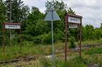 Stacja Sokoły -- Coraz mniej widoczne perony nieczynnej stacji kolejowej w Sokołach.