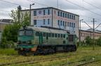 ST44-1056 -- Spalinowa lokomotywa towarowa PKP Cargo na stacji w Łapach.