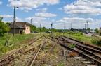 Stacja Grabowo -- Grupa rozjazdów prowadzących na bocznicę i szlak w kier. Ostrołęki