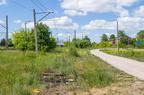 Wyjazd z lokomotywowni w stację -- Usunięte tory wyjazdowe z lokomotywowni Ostrołęka na stację.
