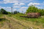Wyjazd w kier. Szczytna -- Wyjazd ze st. Ostrołęka w kierunku Szczytna. Po prawej stara zabytkowa cysterna kolejowa.