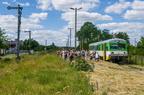 VT627-101 -- Pierwszy kurs specjalny Ostrołęka - Grabowo z okazji Festynu Dworcowego 2017 podczas 20min postoju na stacji końcowej.