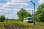 VT627-101 -- Pierwszy kurs specjalny rel. Grabowo - Ostrołęka z okazji Festynu Dworcowego 2017 rusza ze stacji początkowej.