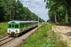 EN57-038 -- Popołudniowy Ostrołęka - Tłuszcz zbliża się do Wyszkowa.
