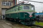 """E449.085 -- Lokomotywa serii 140 (dawna E449) """"Bobina"""" na wystawie taboru z okazji Dni Kolei 2017 w Bohuminie."""