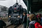 464 008 -- Parowóz 464 008 z pociągiem retro z okazji Dni Kolei 2017 w Bohuminie.