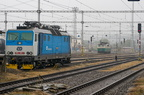 362 109-1 -- Lokomotywy serii 362 oraz 130 w oddali oczekują zatrudnienia na stacji w Międzyrzeczu Wołoskim.