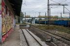Rampa kolejowa w Wyszkowie -- Zakończenie rampy i toru nr 7 po remoncie na stacji kolejowej w Wyszkowie. Jak widać, jest to prawdopodobnie najlepszy tor na stacji.