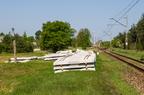 Stacja Dalekie -- Wjazd na stację od strony Wyszkowa. Przygotowania do remontu.