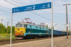 ET22-933 -- Historyczna lokomotywa ET22-933 w Wyszkowie. Więcej informacji we wpisie https://stacjawyszkow.kolej.org.pl/2018/06/19/wyjatkowa-ostrolecka-lokomotywa-et22-w-wyszkowie/