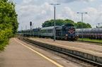 SM42-380 -- Pociąg TLK Hańcza z Krakowa Głównego do Suwałk prowadzony zastępczo lokomotywą SM42 kończy bieg.