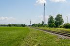 Stacja Śniadowo -- Wyjazd ze stacji Śniadowo w kierunku Łap / Białegostoku. Wyremontowany tor i nowa sygnalizacja świetlna.