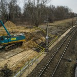 Plac budowy nowego wiaduktu ul. Kościuszki.