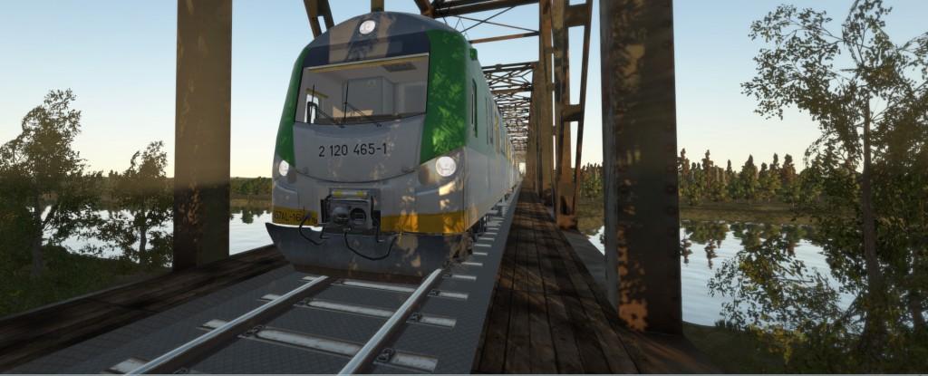 Wirtualny Wyszków i Mostówka w symulatorze SIMTRAQ