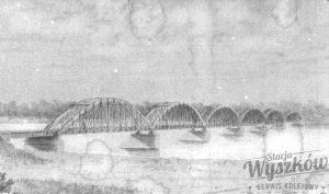 Pierwszy most kolejowy w Wyszkowie nad rzeką Bug, 1897 rok