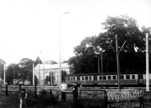 Stacja kolejowa w Wyszkowie po elektryfikacji, lata 80.