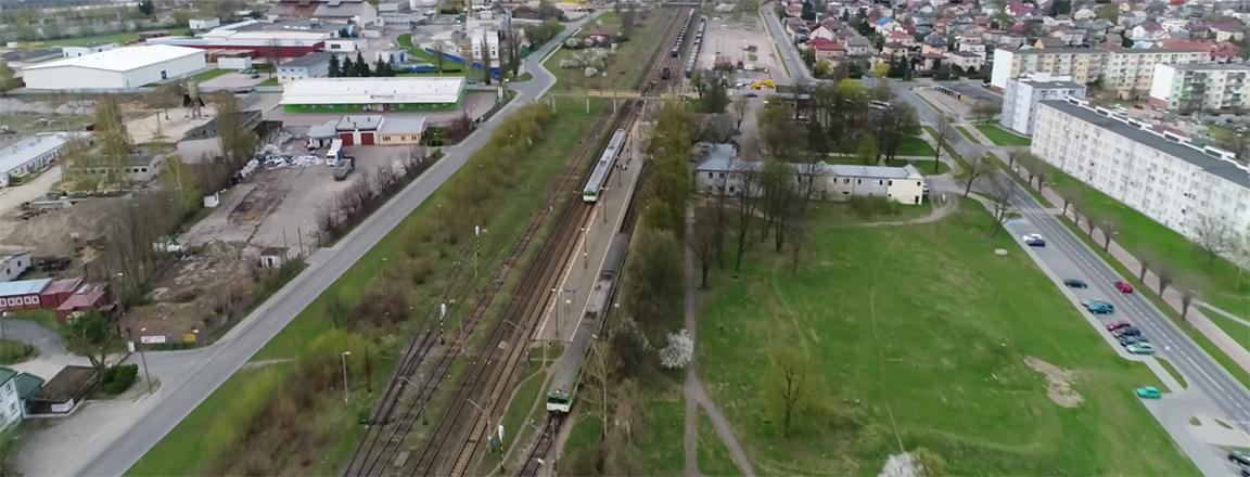 Kolej w Wyszkowie okiem drona (video)