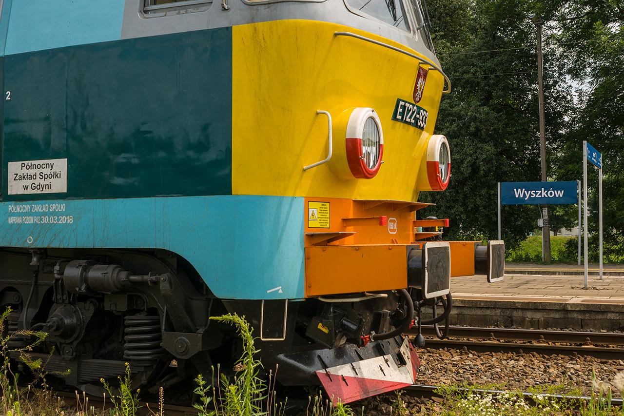 """Wyjątkowa, """"ostrołęcka"""" lokomotywa ET22 w Wyszkowie"""
